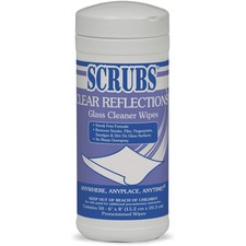 ITW 98556CT ITW Scrubs Clear Reflections Glass Cleaner Wipes ITW98556CT