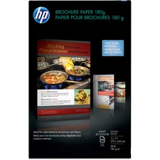 "HP Inkjet Print Brochure/Flyer Paper - Ledger/Tabloid - 11"" x 17"" - 48 lb Basis Weight - Glossy - 98 Brightness - 1 / Pack - White"