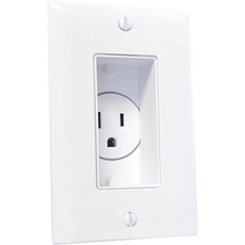 Midlite Décor Recessed Receptacle - White