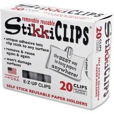AVT 01220 Advantus StikkiClips Adhesive Clips AVT01220