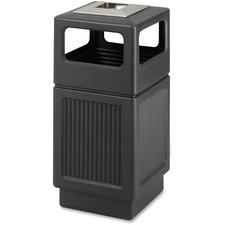 SAF 9477BL Safco Canmeleon Ash Urn 38-gal Waste Receptacle SAF9477BL