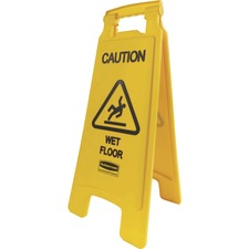 RCP 611277YW Rubbermaid Comm. Caution Wet Floor Safety Sign RCP611277YW