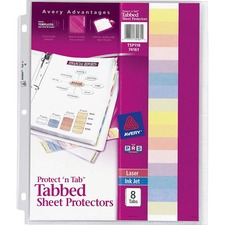 AVE 74161 Avery Protect 'N Tab Top-Loading Sheet Protectors AVE74161