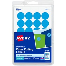 AVE 05461 Avery Custom Print Round Color-coding Labels AVE05461