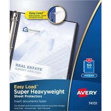 AVE 74131 Avery Super Heavyweight Reference Sheet Protectors AVE74131