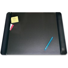 "Artistic Matte Black Executive Desk Pad - Rectangle - 24"" (609.60 mm) Width x 19"" (482.60 mm) Depth - Foam - Vinyl - Black"