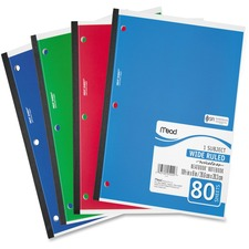 MEA 05222 Mead Neatbook One-subject Notebook MEA05222