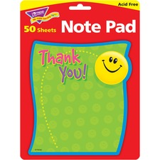 TEP T72030 Trend Thank You Shaped Note Pad TEPT72030