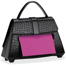 "Post-it® Super Sticky Pop-up Notes Dispenser, 3"" x 3""Notes, Black Purse"