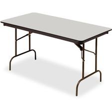 ICE 55217 Iceberg Premium Wood Gray Laminate Folding Tables ICE55217