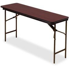 ICE 55274 Iceberg Premium Mahogany Laminate Folding Tables ICE55274
