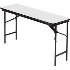 ICE 55277 Iceberg Premium Wood Gray Laminate Folding Tables ICE55277