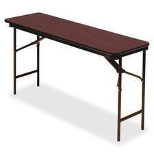 ICE 55284 Iceberg Premium Wood Laminate Folding Table ICE55284