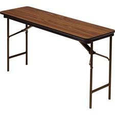 ICE 55285 Iceberg Premium Wood Oak Laminate Folding Tables ICE55285