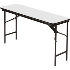 ICE 55287 Iceberg Premium Wood Laminate Folding Table ICE55287