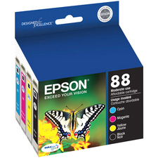 Epson DURABrite T088120-BCS Ink Cartridge | Black, Cyan, Magenta, Yellow