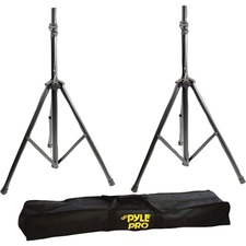 Pyle PSTK103 Heavy-Duty Anodizing Dual Speaker Stand with Traveling Bag Kit