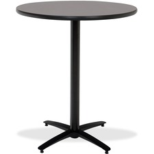 KFIT42R2138GR - KFI T42RD-B2125-38 Bar Height Pedestal Utility Table