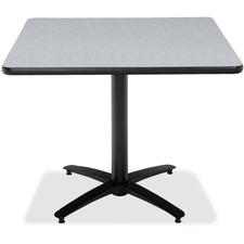 KFIT36SB2125GY - KFI T36SQ-B2125 Pedestal Utility Table