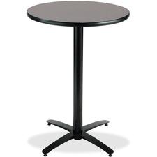 KFIT30R2138GR - KFI T30RD-B2115-38 Bar Height Pedestal Utility Table