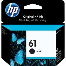 HP 61 Original Ink Cartridge - Single Pack - Inkjet - Standard Yield - 190 Pages - Black - 1 Each