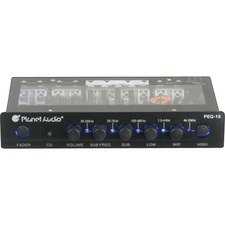 Planet Audio PEQ15 5 Band Pre-Amp Equalizer with Remote Subwoofer Level Control