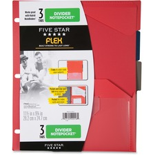MEA 20016 Mead Five Star Flex 3 Tabs Divider Notepockets MEA20016