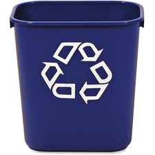 RCP 295573BE Rubbermaid Blue Deskside Recycling Container  RCP295573BE