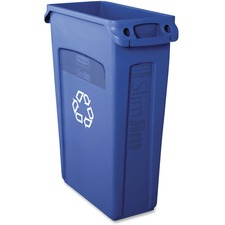 RCP 354007BE Rubbermaid Comm. Slim Jim Vent Recycle Container RCP354007BE