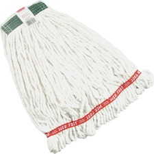 """RCP A21206WHI Rubbermaid Comm. 1"""" Headband Web Foot Wet Mop RCPA21206WHI"""