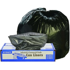 STO T3039B13 Stout Recycled Content Trash Bags STOT3039B13