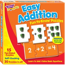 TEP T36013 Trend Easy Addition Fun-to-Know Puzzles TEPT36013