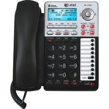 ATTML17939 - AT&T ML17939 2-Line Corded Office Phone System with Answering Machine and Caller ID/Call Waiting, Black