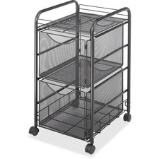 SAF 5212BL Safco Onyx Double File Drawer Mesh Cart SAF5212BL