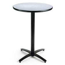 KFIT30R2138GY - KFI T30RD-B2115-38 Bar Height Pedestal Table