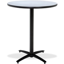 KFIT42R2138GY - KFI T42RD-B2125-38 Bar Height Pedestal Table