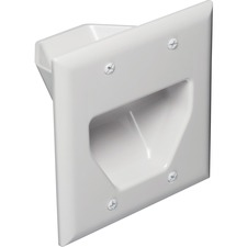 Datacomm 2gang Recessed Lw Vltage Cable Plate Wht / Mfr. No.: 45-0002-Wh