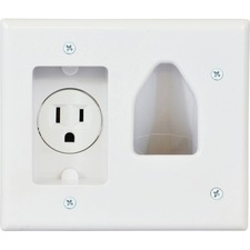 Datacomm 1 Socket Faceplate-1 x Socket (s) - White