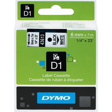 DYM 43613 Dymo D1 Electronic Tape Cartridge DYM43613