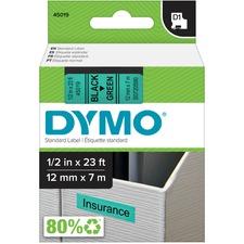 DYM 45019 Dymo Electronic Labeler D1 Label Cassette DYM45019