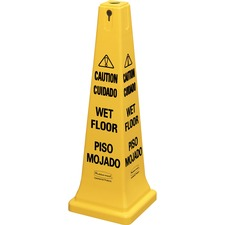 RCP 627677 Rubbermaid Comm. Multilingual CAUTION Sign Cone RCP627677