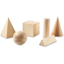 LRN LER01206 Learning Res. Wooden Geometric Shapes Set LRNLER01206