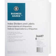 BSN36687 - Business Source Punched Laser Index Dividers