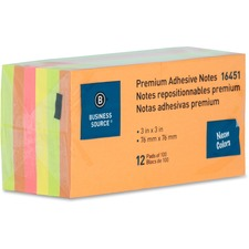 BSN 16451 Bus. Source Repositionable Neon Notes BSN16451