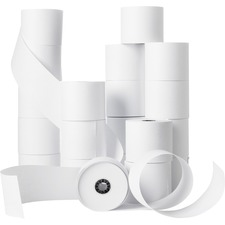 "Business Source Receipt Paper - 2 1/4"" x 150 ft - 0% Recycled Content - 100 / Carton - White"