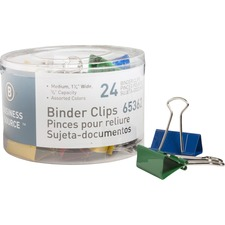 BSN 65362 Bus. Source Colored Fold-back Binder Clips BSN65362
