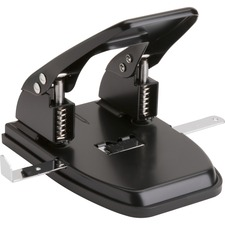 "Business Source Heavy-duty 2-Hole Punch - 2 Punch Head(s) - 30 Sheet Capacity - 9/32"" Punch Size - Round Shape - Black"