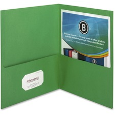 BSN 78493 Bus. Source Two-Pocket Folders BSN78493