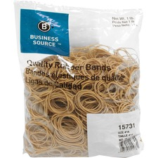 "Business Source Quality Rubber Bands - Size: #14 - 2"" (50.80 mm) Length x 62.50 mil (1.59 mm) Width - Sustainable - 2250 / Pack - Rubber - Crepe"