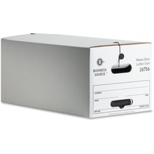 BSN 26756 Bus. Source Heavy Duty Letter Size Storage Box BSN26756